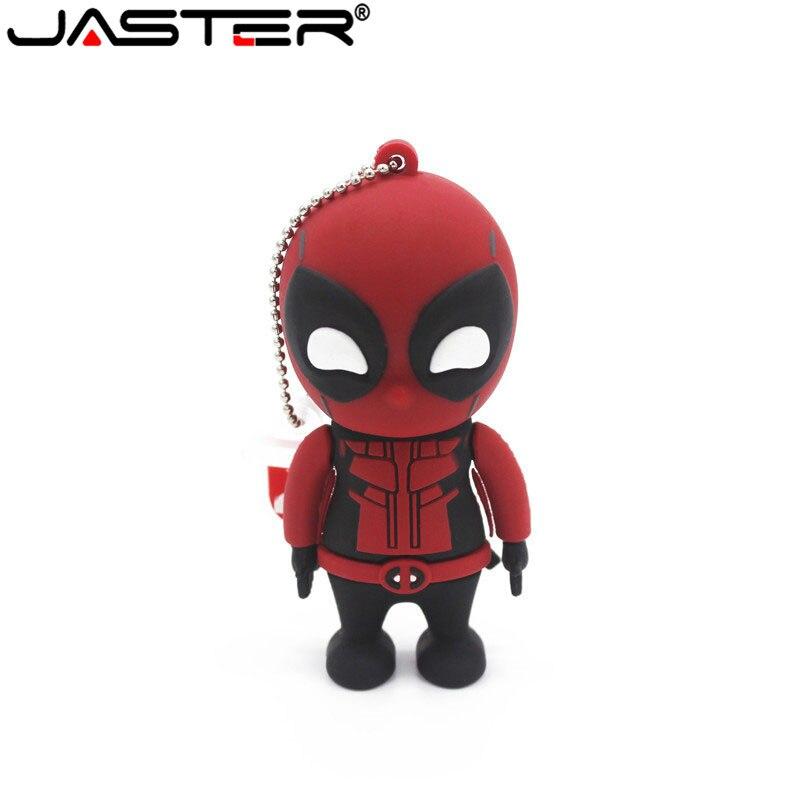 JASTER New Style Black Panther Pen Drive Usb Flash Drive 4GB 8GB 16GB 32GB 64GB Cartoon Gift