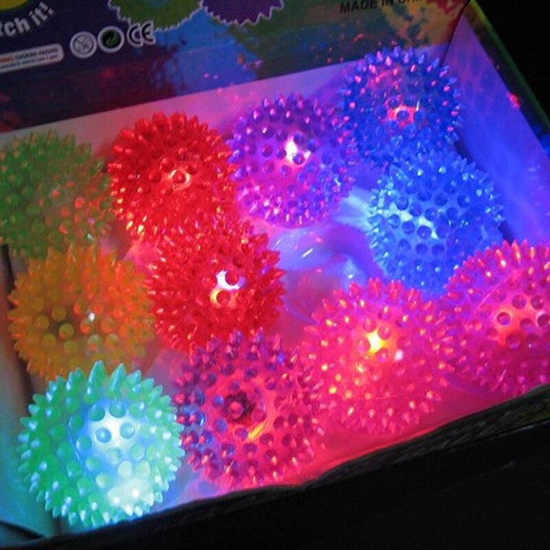Flashing Light Up Spikey Ball High Bouncing Balls Novelty Sensory Hedgehog Balls Hot Sales