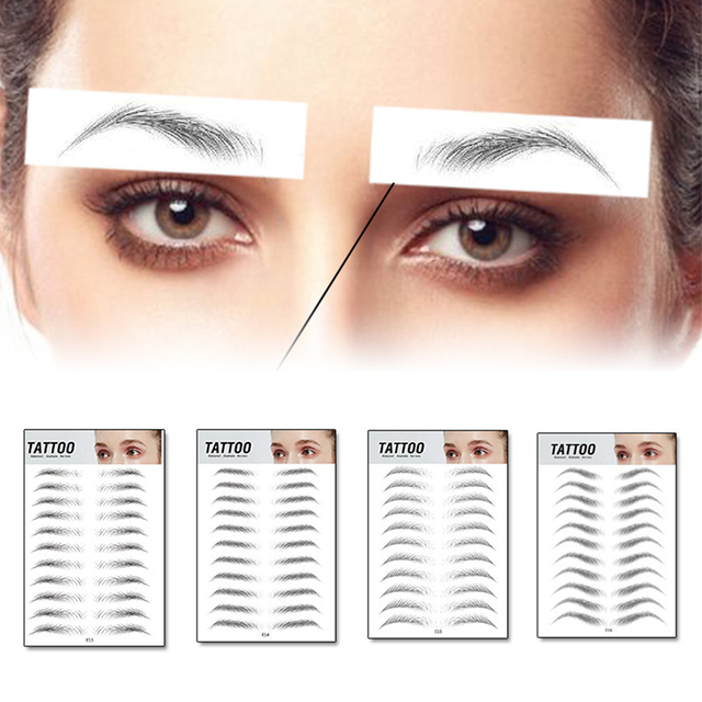 2020 Magic 4D Hair-like Authentic Eyebrows Grooming Shaping Makeup Brow Shaper Brow Stickers Tattoo False Eyebrows Cosmetics 2