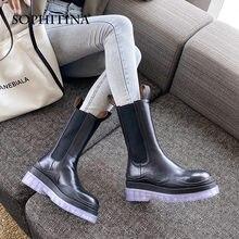 Женские ботинки Челси sophitina модные элегантные из натуральной