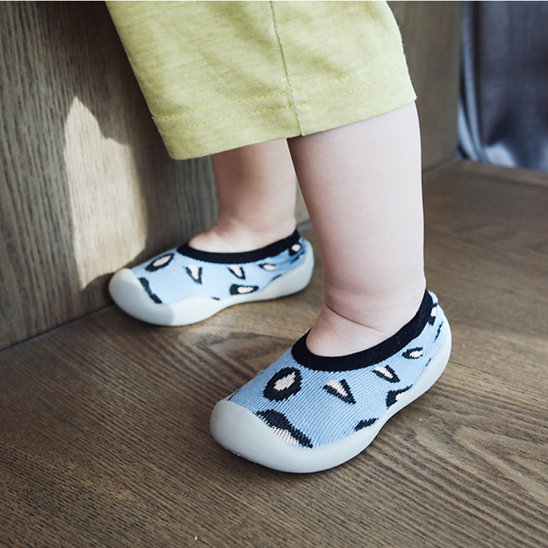 Baby Cotton Shoes Children Kids Girls Boys Soft Rubber Sole Sock Toddler First Walker Newborn Infant Leopard Anti Slip Sneakers