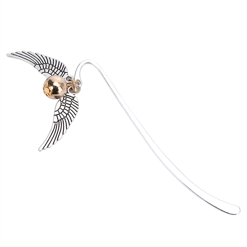 Wing Snitch Metal Bookmark Retro Charm Fashion Bookmark Binder Index Divider For Fans Reader Book Marque Page Mate Marker
