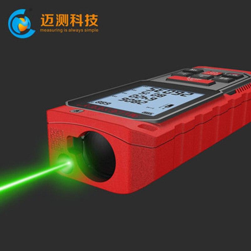 MiLESEEY S2 Laser-entfernungsmesser Grün lichtquelle band entfernungsmesser 100m range finder
