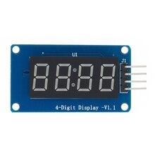 20 adet 4 bit TM1637 kırmızı dijital tüp LED ekran modülü ve saat LED