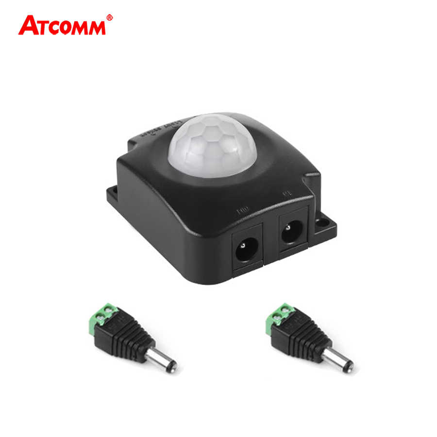 PIR Motion Sensor สวิทช์ 5 V-24 V 8A IR อัตโนมัติสวิทช์ไฟ LED อินฟราเรด Body Sensor การเคลื่อนไหวสวิทช์