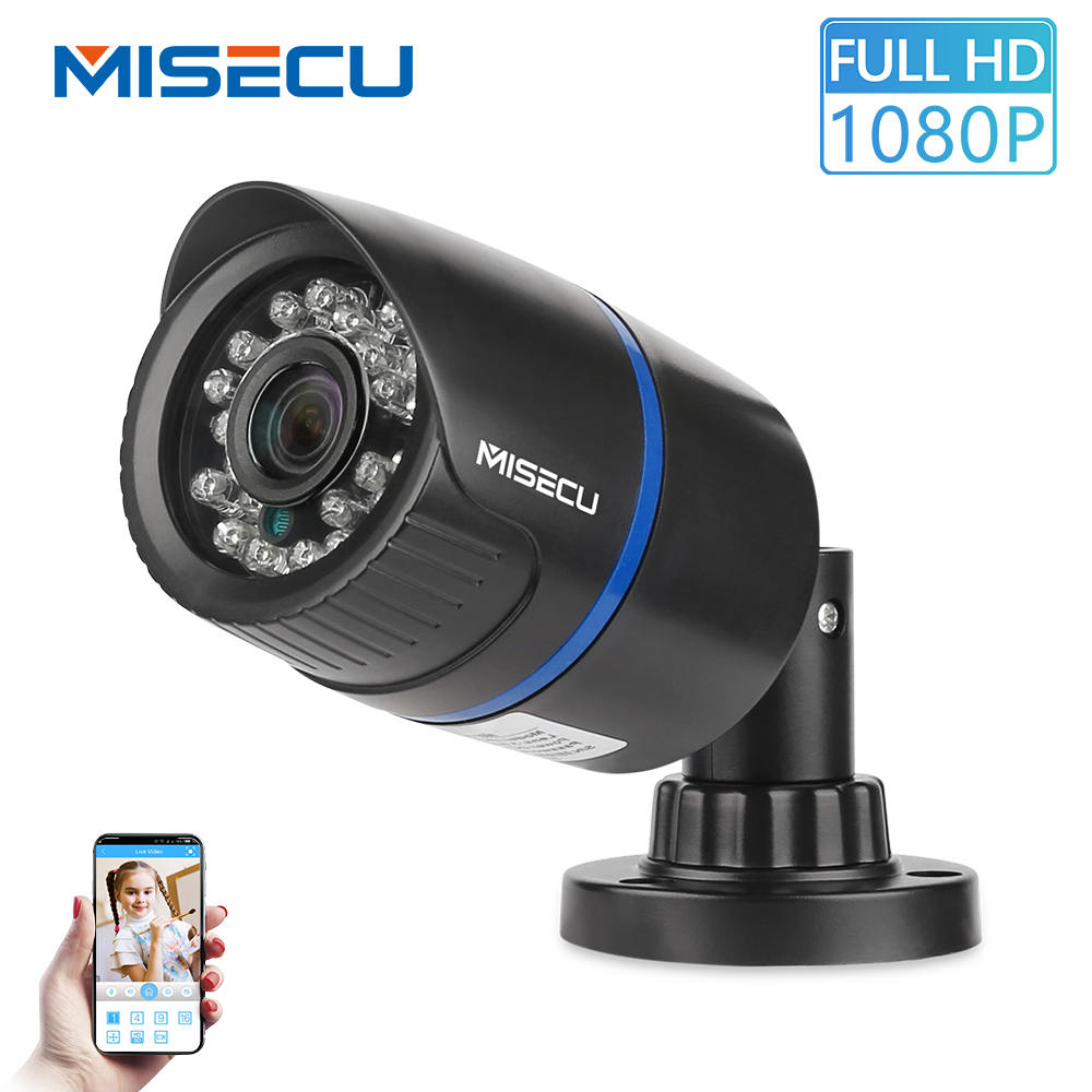MISECU 2,8 mm brede IP-camera 1080P 720P Outdoor ONVIF P2P bewegingsdetectie RTSP e-mailwaarschuwing XMEye 48V POE Surveillance Security
