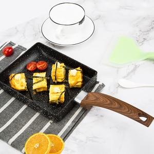 Image 3 - 15*18 Frying Non Stick Pan Tamagoyaki Japanese Medical Stone Aluminum Alloy Pan Maker Fry Egg Pan Pancake Pot Pink Cookware