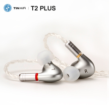 Tinhifi T2 artı/T2/T2 pro HiFi ses çift dinamik kulak içi kulaklık IEM ayrılabilir MMCX kablo