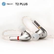 Tinhifi t2 plus/t2/t2 pro áudio de alta fidelidade dupla dinâmica in ear fone de ouvido iem com destacável mmcx cabo