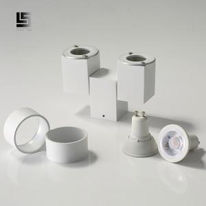 Image 5 - Kapalı led downlight led gu10 180 ayarlanabilir çift yüzey montaj spot beyaz/siyah tavan ışık