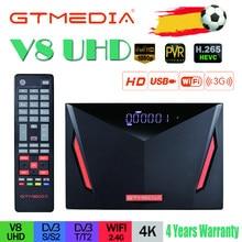 Новейший спутниковый ресивер Gtmedia V8 UHD DVB-S2 со встроенным Wi-Fi, работает от Gtmedia V8 NOVA, обновленный рецептор freesat v8 UHD без приложения
