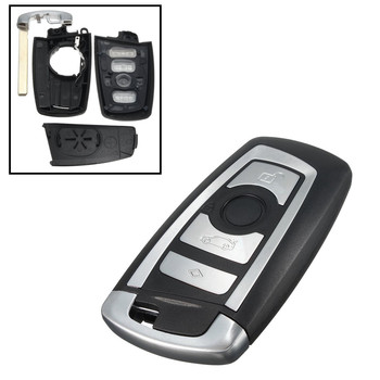 4 Buttons Car Key Cover Fob Remote Shell Case with Uncut Blade For BMW F10 F20 F30 F40 1 3 5 Series Replacement Part image