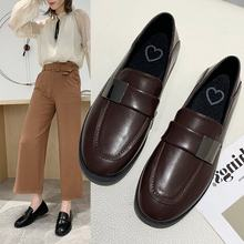 British-Style Small Leather Shoes Women's 2020 Winter Vintage Chunky-Heel Shoes Square Head Low-Cut Loafers 0329(China)
