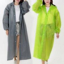 Chubasquero ambiental para hombre y mujer, ropa de lluvia negra con capucha, Poncho para motocicleta, chaqueta de lluvia portátil transparente para adultos