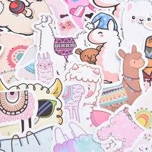 500 pçs llama alpaca bonito adesivo kawaii dos desenhos animados camelo ovelhas animais adesivos para crianças recompensa adesivos scrapbooking bicicleta carro decalque