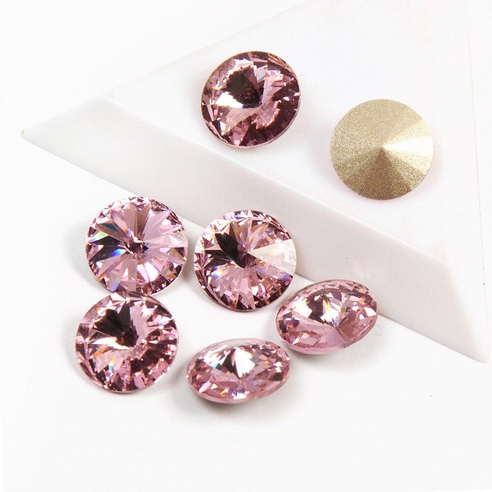 yanruo 1122 rivoli luz rosa cor solta strass topo fantasia strass bling pedras cristais unhas apliques