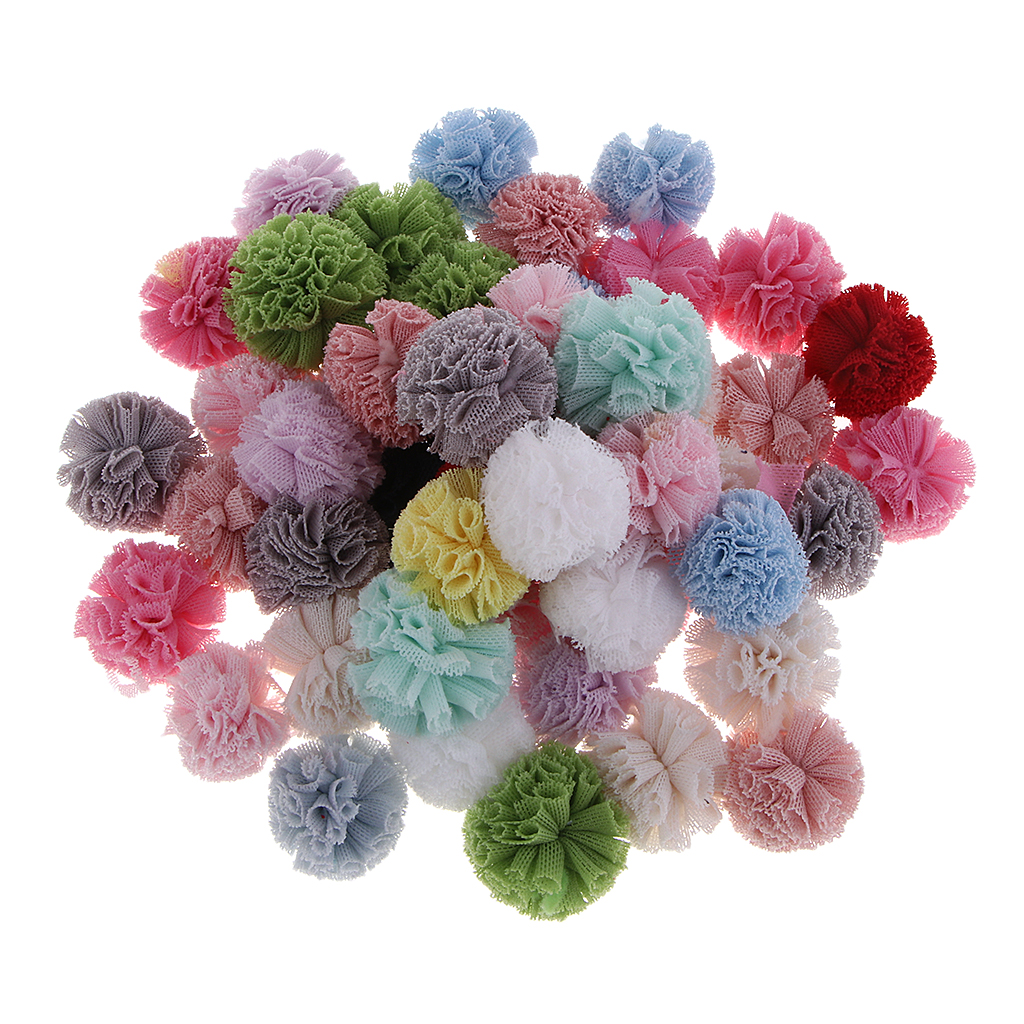 Packs Of 50 Multicolor Arts And Crafts Pom Poms Balls For Hobby Supplies And Creative Craft DIY Material