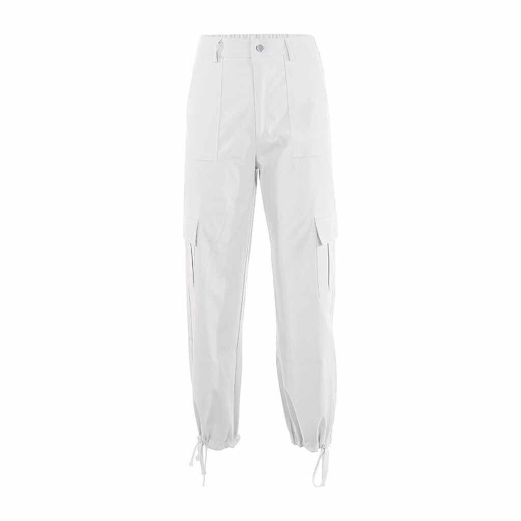 Vrouwen Lente Zomer Solid Cargo Zakken Losse Streetwear Mode Broek Broek 2020 Hot Nieuwe Producten Dropshipping Leverancier Ins
