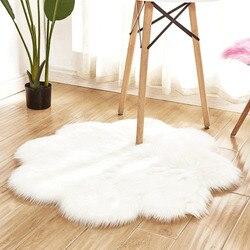 Faux Fur Fluffy dywanik wełniany miękka mata owłosiona Sofa podłoga Home Room dywan zmywalny fałszywe wełniane dywaniki z kożucha ciepły włochaty dywan poduszka na siedzenie