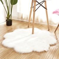 Pele do falso macio tapete de lã macia tapete peludo sofá chão casa tapete lavável falso lã tapetes de pele carneiro quente peludo tapete almofada de assento