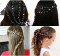 Новинка 2020  инструмент для наращивания волос со стразами для девочек  блестящие заколки для косы  свадебные аксессуары для волос