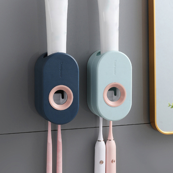 Samoprzylepna automatyczna wyciskarka dozownik pasty do zębów naścienny uchwyt do pasty do zębów wieszaczek na szczoteczkę do zębów ścienna wyciskarka do zębów tanie i dobre opinie CN (pochodzenie) Other