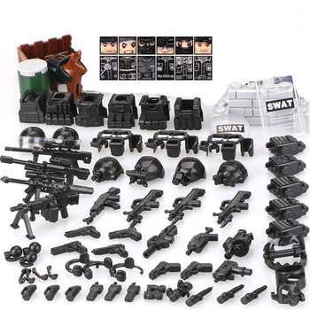 2017 new kazi 4pcs building blocks wolf tooth field team militray army weapons compatible with legoe solider bricks toys 6pcs/lot Military ww2 Soldier SWAT Army Special Forces Team Soldiers Weapons Building Blocks kids toys child bricks