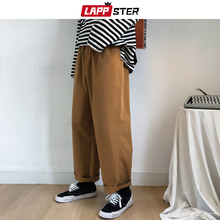 Joggers Pants Beige Japanese Streetwear LAPPSTER Men Harajuku Kpop Spring Vintage Male
