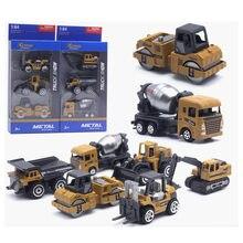 3 pçs/set 1: 64 liga engenharia veículo escavadeira carros modelo conjunto de coleções presente para crianças
