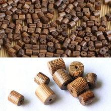 Природная эбеновая куриное крыло деревянные бусины ведро Форма