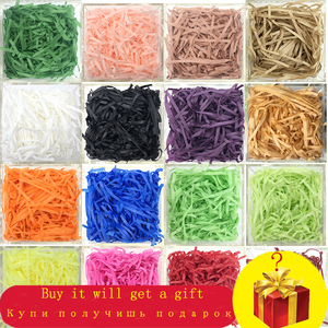 10g/bag DIY Colorful Paper Raffia Shredded Confetti Christmas Gift Box Filling Material Wedding Marriage Home Decor Decoration