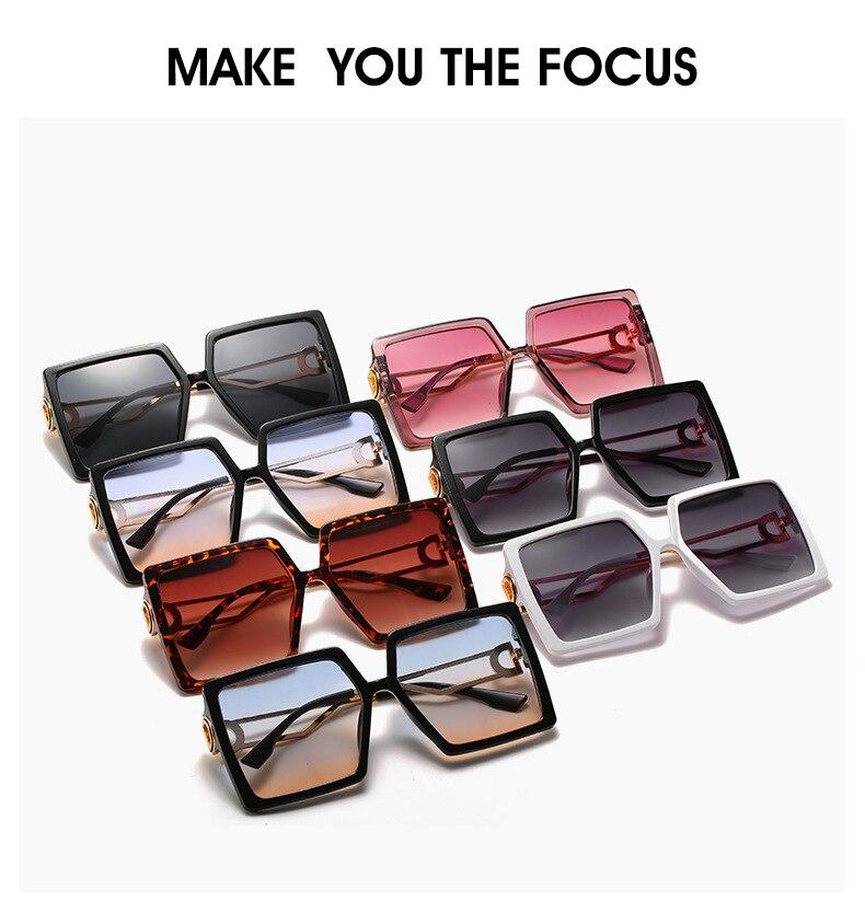 Fashion Sunglass Designer Square Sunglasses Women Vintage Oversized 2021 trend Female Sun Glasses Shades For Women (1)