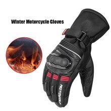 ถุงมือรถจักรยานยนต์ผู้ชายขี่จักรยานMountain Bike Guantes Luvasหน้าจอสัมผัสMotoถุงมือฤดูหนาวถุงมือป้องกันเกียร์
