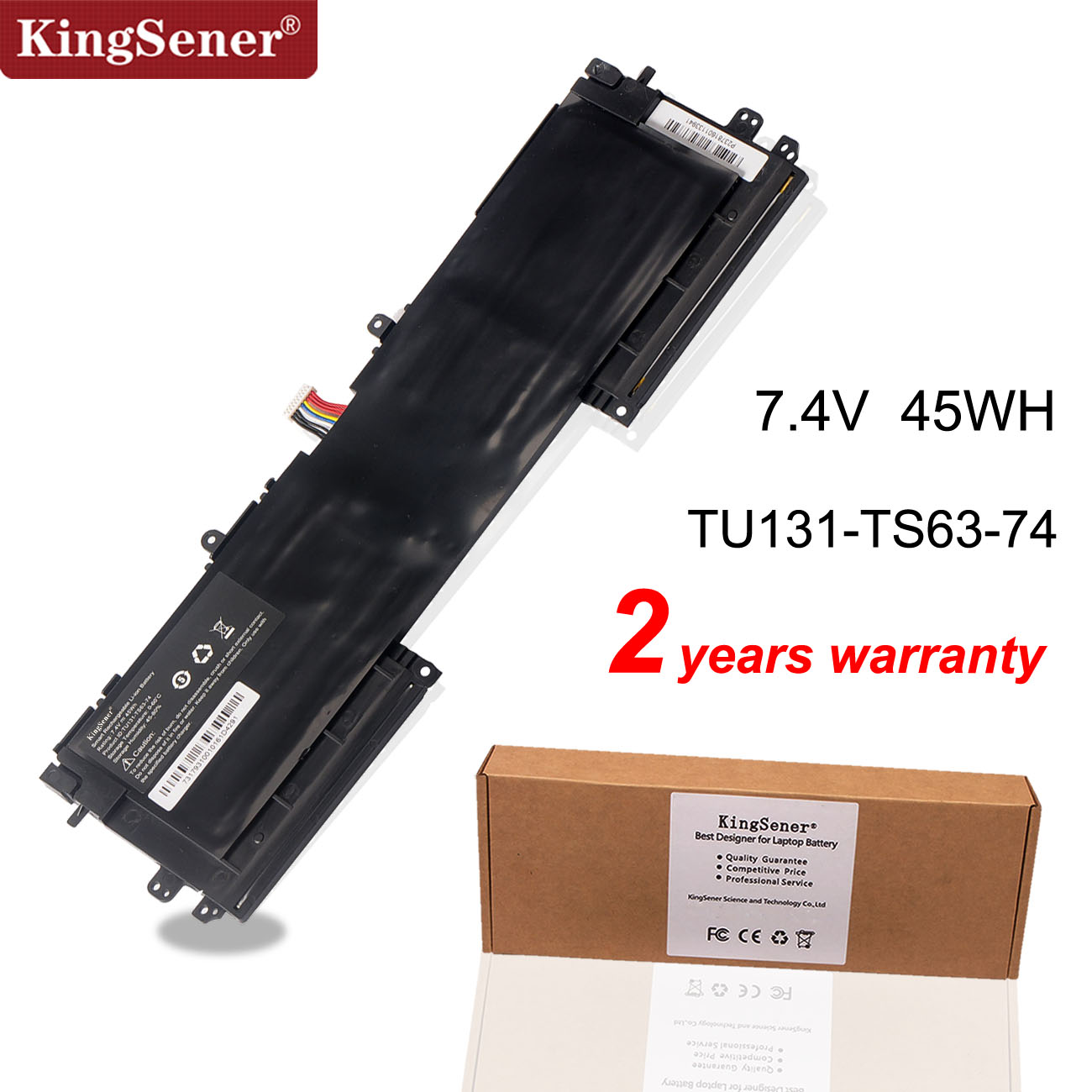 KingSener 7.4V 45WH TU131-TS63-74 TU131 Laptop Battery For DELL XPS13 8808 U13S881 U33X UX32K U731 TU131-TS63-74