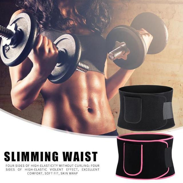 Adjustable Pocket Fitness Waist Belt Neoprene Weight Loss Slimming Sweat Waistband Exercise Belly Body Beauty Waist Support 3