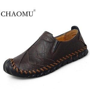 Image 1 - Chaussures pour hommes printemps et automne nouveaux hommes daffaires sans lacet cuir dâge moyen et les personnes âgées en cuir chaussures hommes papa pointure