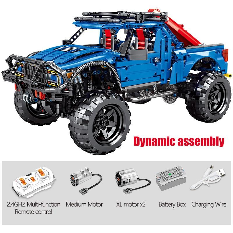 2020 novo sembo bloco 1630 pçs cidade tijolos de carro controle remoto legoing técnica rc caminhões captador modelo blocos de construção brinquedos para crianças - 3