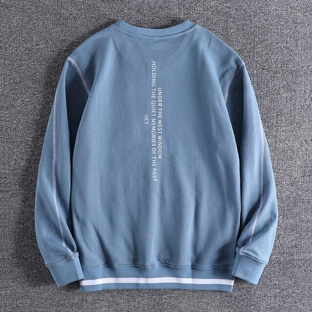 Фото новинка осень зима 2020 мужские модные простые толстовки с буквенным