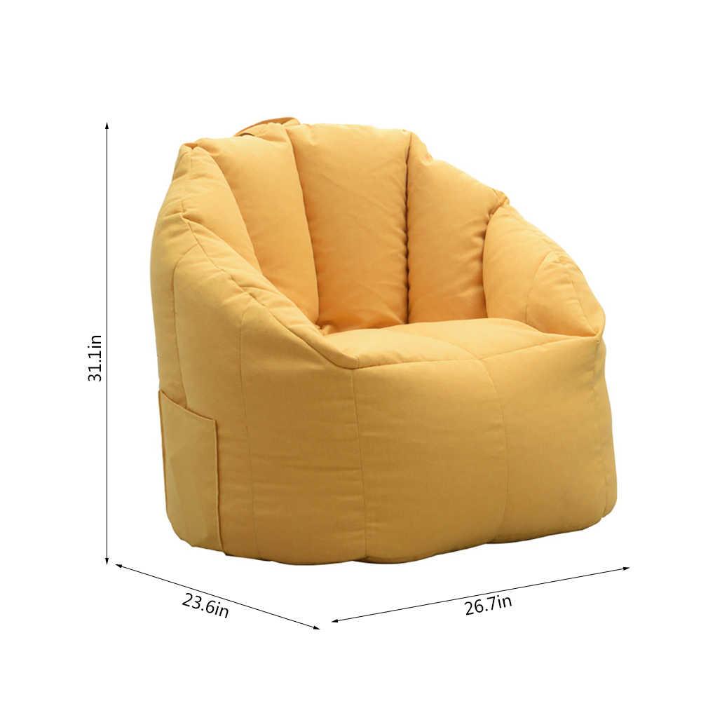 Fasulye çanta kılıfı kanepe sandalye dolum çanta şezlong kanepe osmanlı koltuk oturma odası mobilya dolgu olmadan Beanbag puf puf kanepe