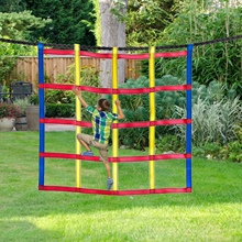 Outdoor Climbing Nets For Children Walking Sling Suit Color Climbing Nets Outdoor Extended Rock Climbing Sports Simulation Net