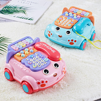 Children's Phone Simulation Toy Simulation Landline Baby Puzzle Music Early Education Baby Toy Abs Safety Material