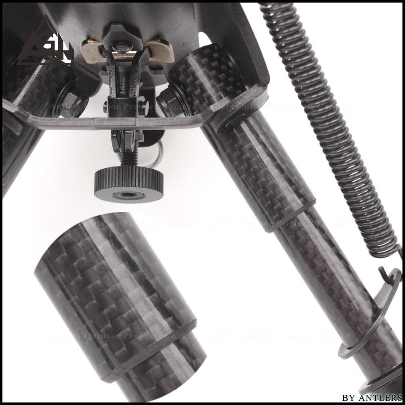สนับสนุนยุทธวิธี bipod วัสดุคาร์บอนไฟเบอร์ 6 ~ 9 นิ้ว Tripod Joint กล้องแปลง 20 มม.ประกอบ Picatinny อุปกรณ์เสริม