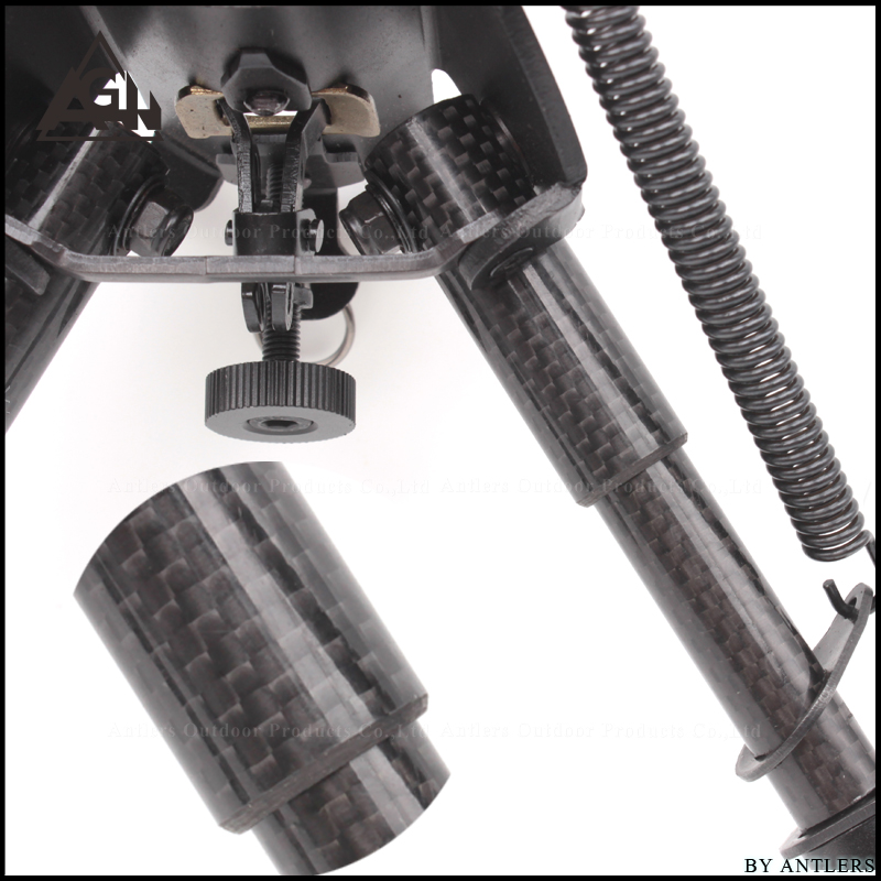 戦術サポートバイポッド炭素繊維材料 6 〜 9 インチ三脚ジョイントカメラコンバータ 20 ミリメートルウィーバーピカティニーレールアクセサリー