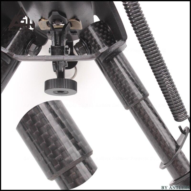 전술 지원 bipod 탄소 섬유 소재 6 ~ 9 인치 삼각대 공동 카메라 변환기 20mm 위버 picatinny 액세서리