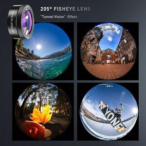 Image 4 - APEXEL 2020 nouveau Kit dobjectif de caméra de téléphone HD 4in1 téléobjectif Zoom monoculaire télescope 22X Macro large objectif Fisheye avec trépied à distance