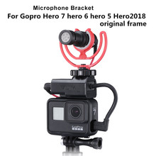 Microfono Adattatore di Montaggio per Gopro 3.5 millimetri Mic Adattatore Scarpa Freddo Estendere Mount per Gopro hero 7 6 5 2018 custodia originale Monti