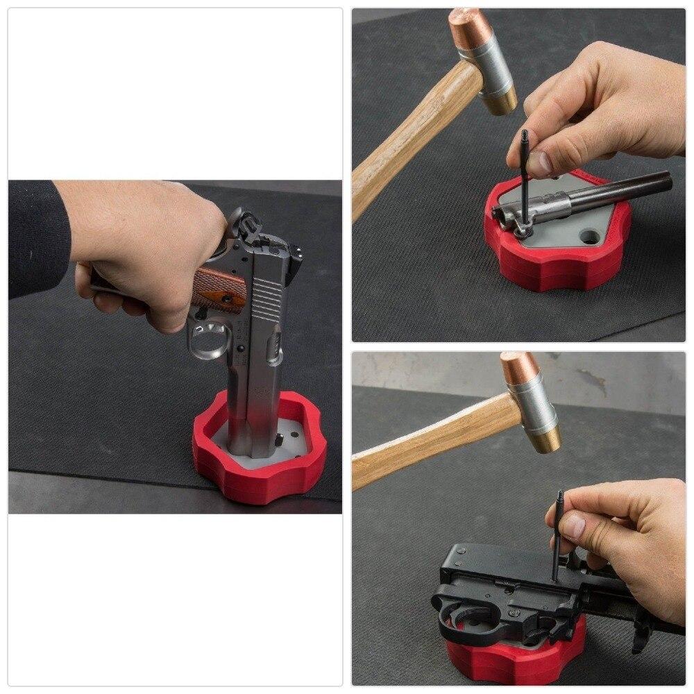 Tático universal gunsmithing bloco pistola ruger 10/22s estilo remontar ferramenta de reparo pedestal conjunto banco bloco