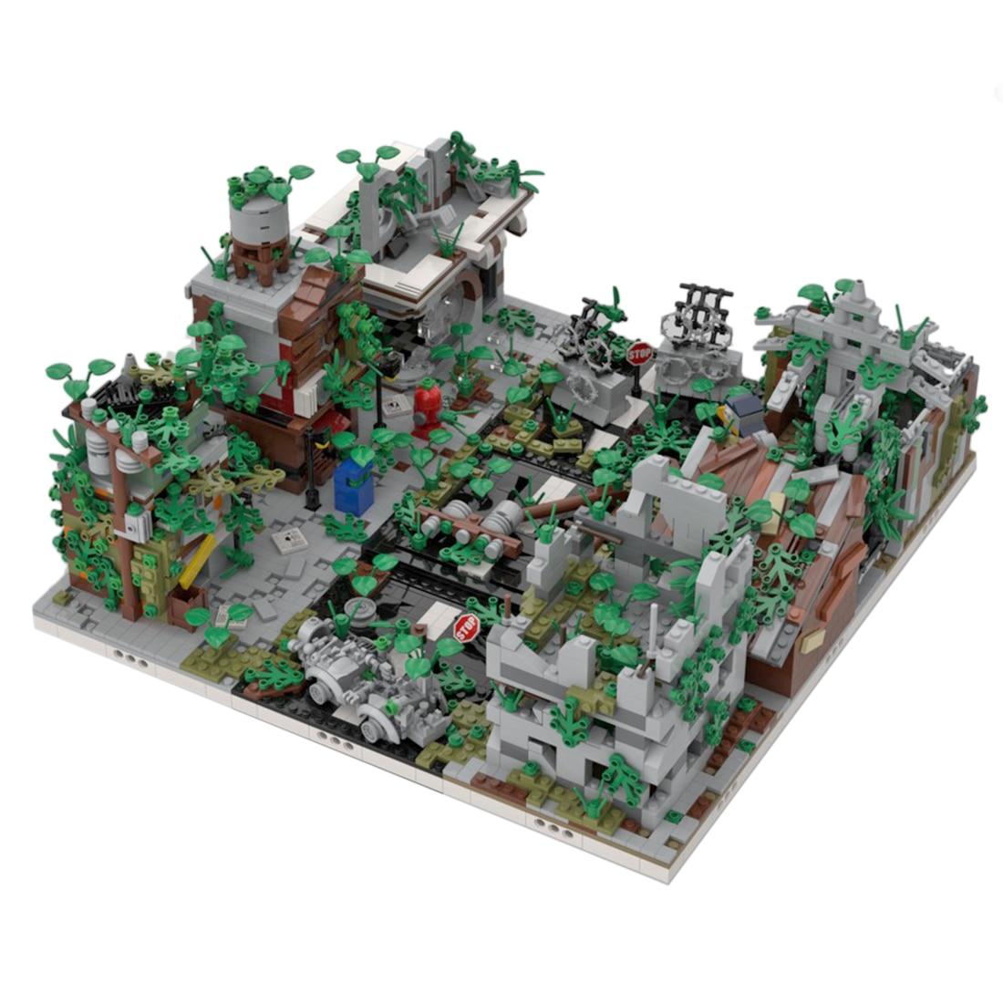 3645Pcs  MOC Ruined City Bricks Small Particle DIY Building Block Stem Toy Gift (Designed By Gabizon) (No User Guide)