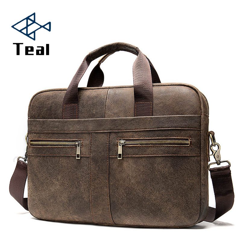 2020 New Fashion Briefcases Business Men Handbag Genuine Leather Men Messenger Bags Best Laptop Bags Top-Handle