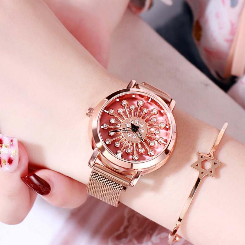 Luxury Watch Women Dress Bracelet Watch 2019 Rose Gold Stainless Steel Quartz Wristwatch Classic Ladies Casual Watch Clocks